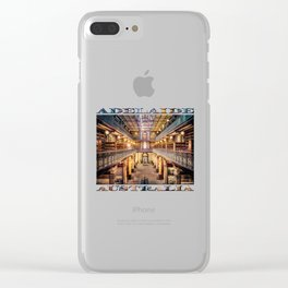 Let Us Retire To The Library Clear iPhone Case
