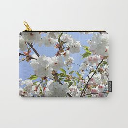 White Blossoms Carry-All Pouch