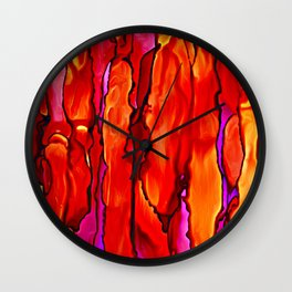 Reverie in Red Yellow and Violet Wall Clock