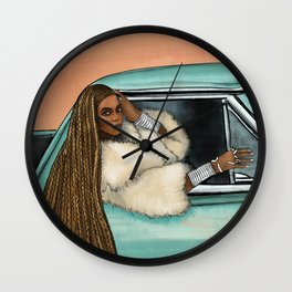 Bey Formation Car Illustration Wall Clock