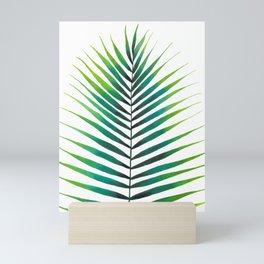 Tropical Palm Leaf #1   Watercolor Painting Mini Art Print