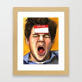 ADAM HUNGOVER Framed Art Print