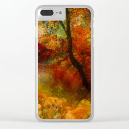 Autumn 18 Clear iPhone Case