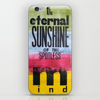 eternal sunshine of the spotless mind iPhone & iPod Skins featuring The eternal sunshine of the spotless mind by Federica Tumminello