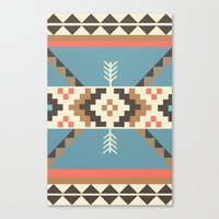 aztec Canvas Prints featuring AZTEC by 6ense