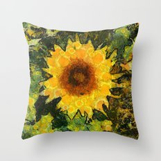 you can't have enought sunflowers Throw Pillow