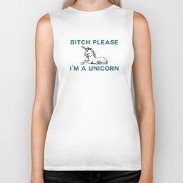 I'm a Unicorn Biker Tank