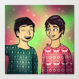 Christmas Dan and Phil Canvas Print