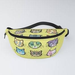 cat faces Fanny Pack