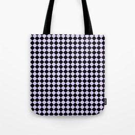 Black and Pale Lavender Violet Diamonds Tote Bag