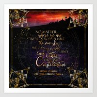 Constellation - The Star Touched Queen Art Print