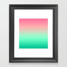 Mermaid Pink Teal Gradient Framed Art Print