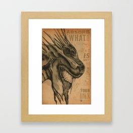 Dragon Motivation Framed Art Print