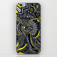 chaos iPhone & iPod Skins featuring Chaos by Lauren Moore
