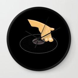 Dj Scratch Wall Clock