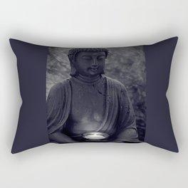 Buddha in the dark Rectangular Pillow