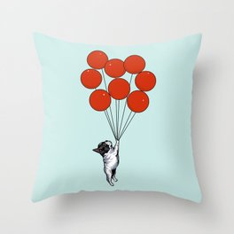I Believe I Can Fly French Bulldog Throw Pillow
