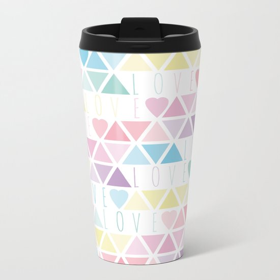 Valentine's Day - Love triangle Metal Travel Mug