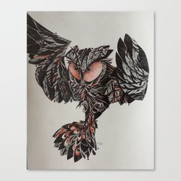 Coruja voando Canvas Print