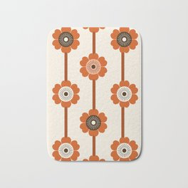 Foxy - 70s style throwback retro flowers floral pattern minimal decor art 1970's Bath Mat
