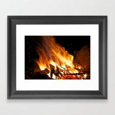 Summer's Campfire Framed Art Print