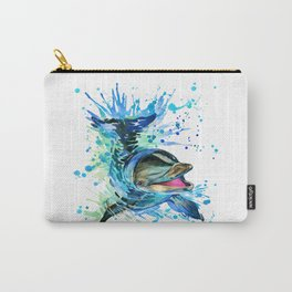 Watercolor Dolphin Carry-All Pouch