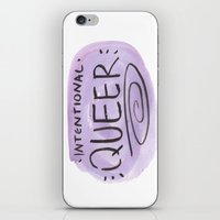 queer iPhone & iPod Skins featuring Intentional Queer by StarkissCreations