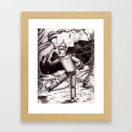 The Tin Man Gets His Heart Framed Art Print