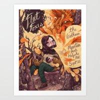 fleet foxes Art Prints featuring Fleet Foxes Poster by Logan  Faerber
