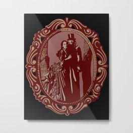 Dracula & Mina Metal Print