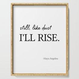 I'll rise #minimalism 2 Serving Tray
