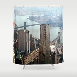 Vintage New City Shower Curtain