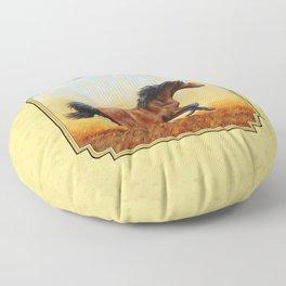Running Bay Horse Floor Pillow