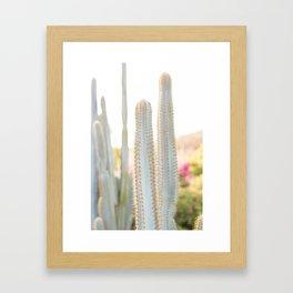 Ethereal Cacti I Framed Art Print