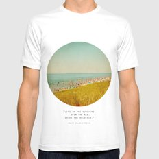 The Last Days of Summer MEDIUM White Mens Fitted Tee