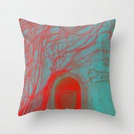 Vessel, Veins and Vines Gothic Garden Wall Digital Photograph Throw Pillow