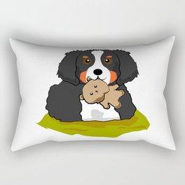 bernese mountain dog Puppy Doggie Cute Comic Gift Rectangular Pillow