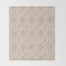 Diamond Dots in Tan Throw Blanket