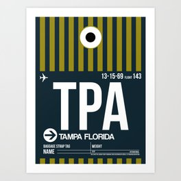 TPA Tampa Luggage Tag 2 Art Print