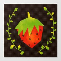 strawberry Canvas Prints featuring Strawberry by Strawberringo