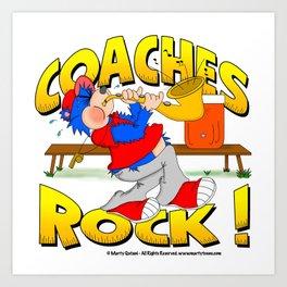 Coaches Rock Art Print