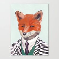 mr fox Canvas Prints featuring Mr. Fox by Animal Crew