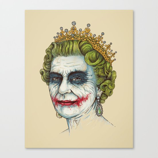 God Save the Villain! Canvas Print