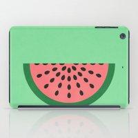 watermelon iPad Cases featuring Watermelon by Karolis Butenas
