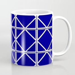 Navy Triangle Square Coffee Mug