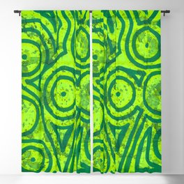 Square Green Round Blackout Curtain