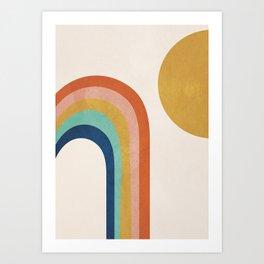 The Sun and a Rainbow Art Print