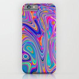 Neon melt iPhone Case
