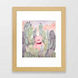 Jelly in Cactus Island Framed Art Print