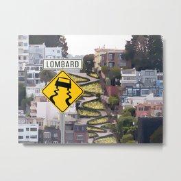 Lombard Street - San Francisco Metal Print